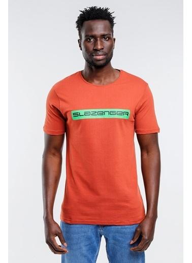 Slazenger Slazenger BATTLE Erkek T-Shirt Pudra Kiremit